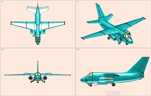 3d model s-3a viking aircraft solid