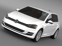 3d volkswagen golf tdi 5d model