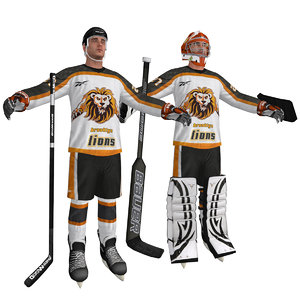 hockey player goalie 3d max