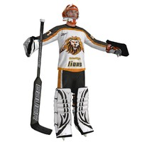hockey goalie 3d model