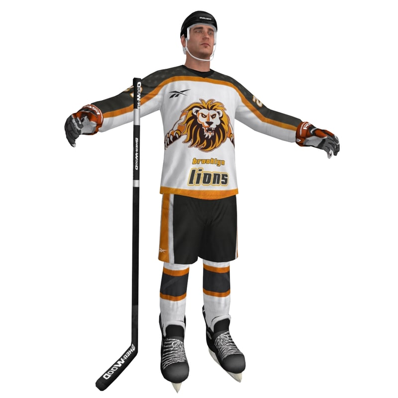 3d model hockey player