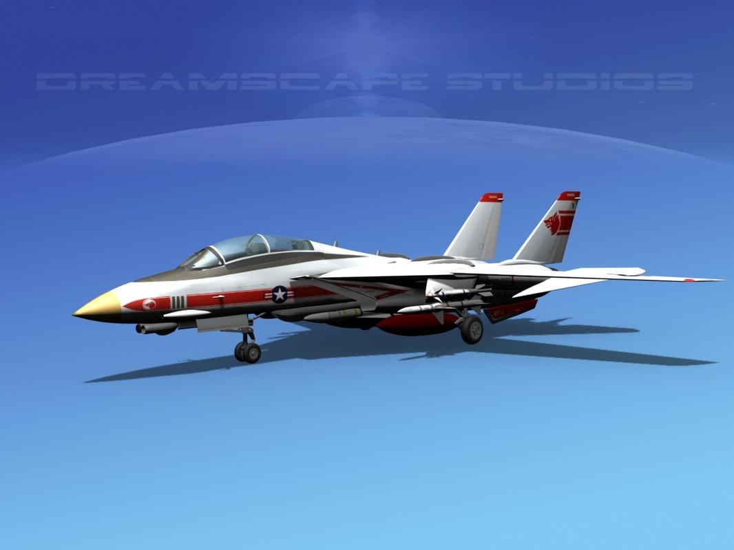 3d model of grumman tomcat f-14d fighter aircraft