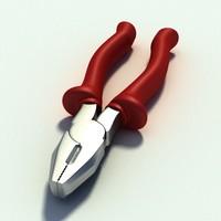 tools plier 3d model