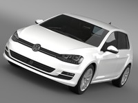 golf tdi 4motion 5d 3d model