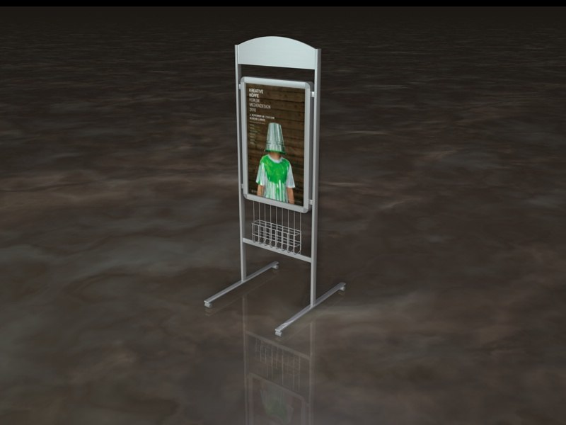 3d model poster stand holder