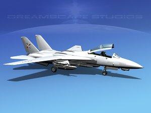 grumman tomcat f-14d fighter 3d 3ds