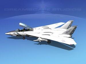 3d grumman tomcat f-14d fighter aircraft model
