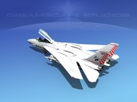 3d model grumman tomcat f-14d fighter aircraft
