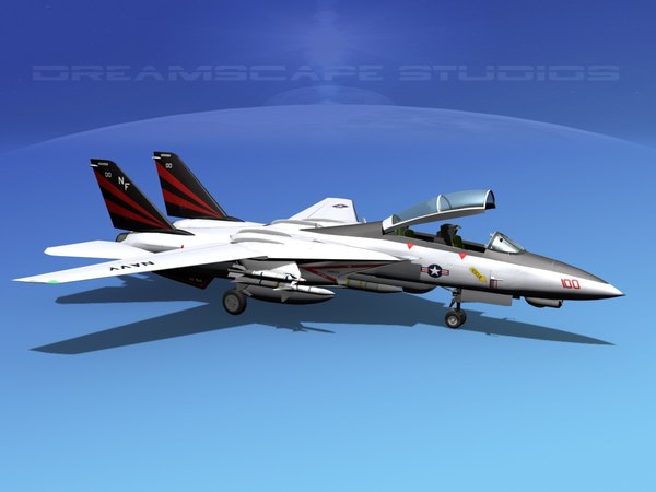 3ds grumman tomcat f-14d fighter aircraft