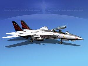3ds grumman tomcat f-14d fighter aircraft