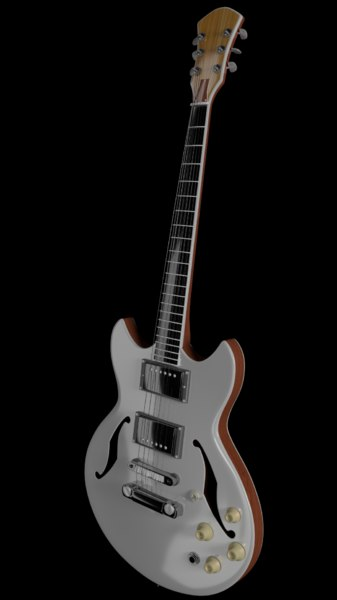 guitar blender 3d obj