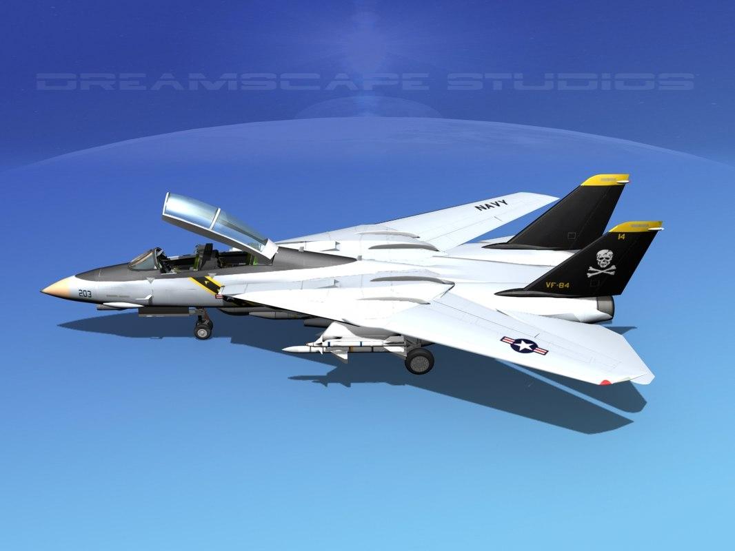grumman tomcat f-14d fighter aircraft 3d max
