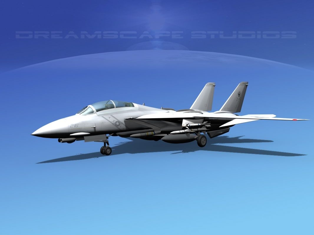 3d dwg grumman tomcat f-14d fighter aircraft