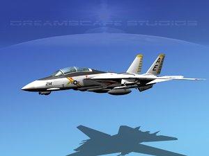 grumman fighter f-14 f14 3d model