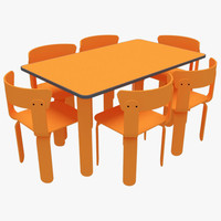 3d dining table chairs-1 chairs