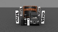 3dsmax mercedes car display stand