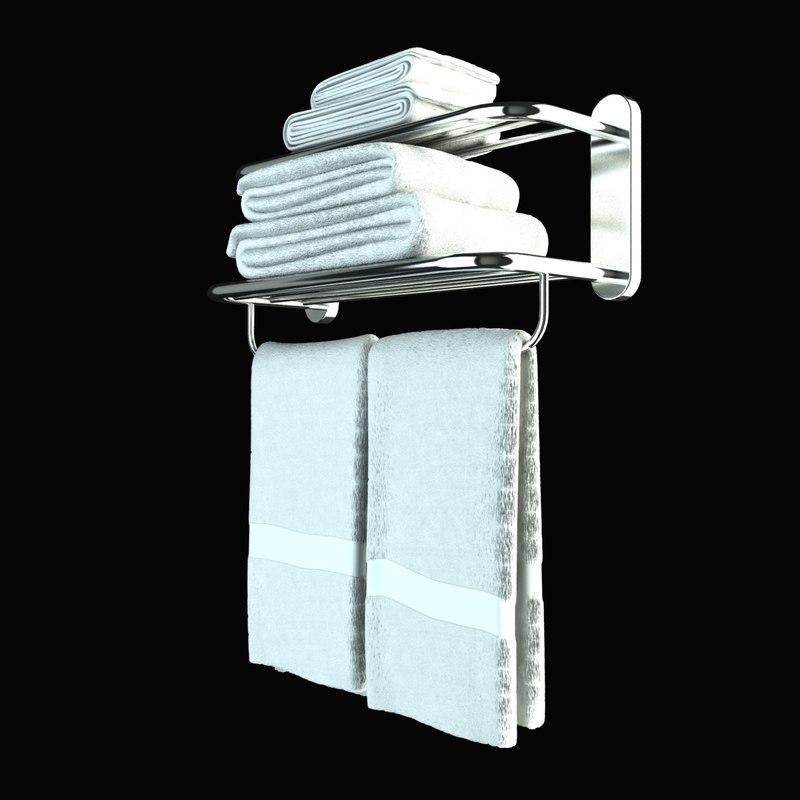 3d model towel rail