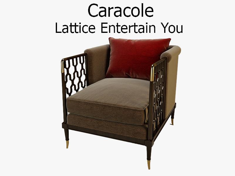 caracole lattice entertain 3d model