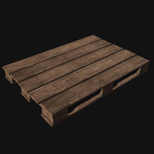 pallet wood prop 3d obj