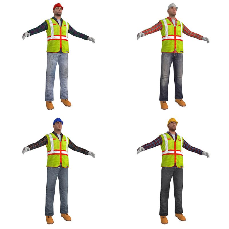 pack worker s man 3d model