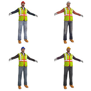 pack worker s man 3d model