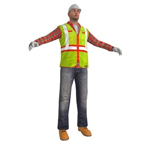 worker man obj