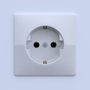 3d model of plug socket
