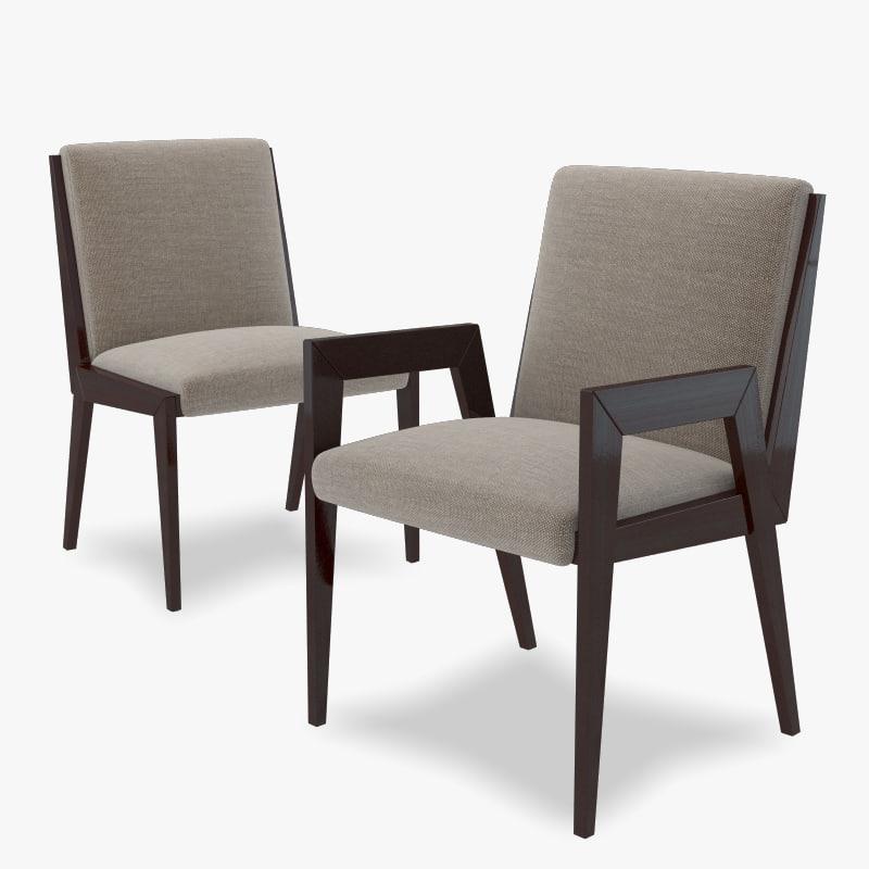 3d model of baker francis chair