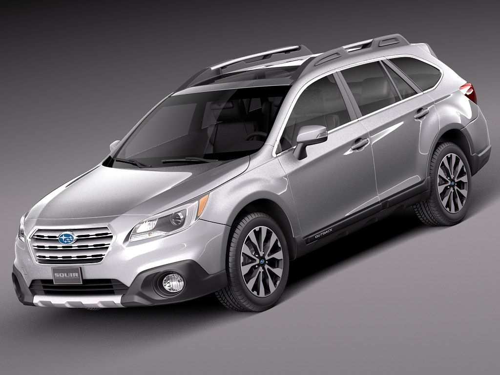 3d model 2015 subaru outback. Black Bedroom Furniture Sets. Home Design Ideas