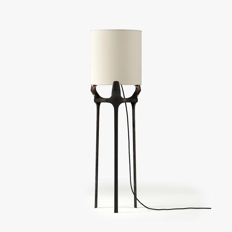 3d caste flint floor lamp model