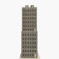 3d model of skyscraper apartments offices