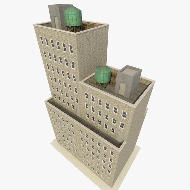 skyscraper apartments offices fbx