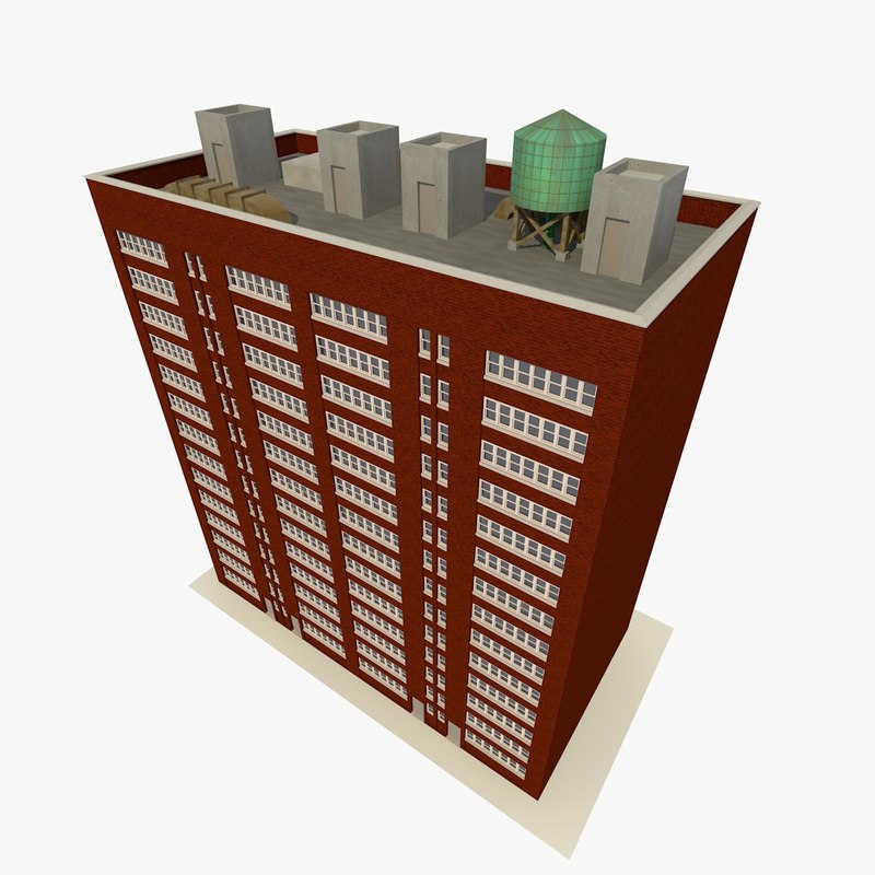 3d model of skyscraper apartments offices