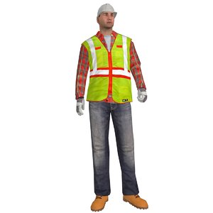 rigged worker man max