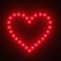neon bulbs heart 3d 3ds