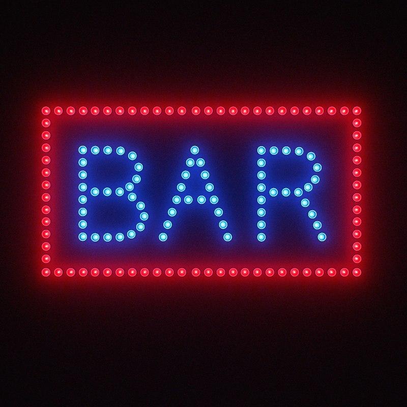 3d model of bulb sign bar