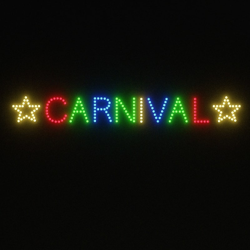 3d carnival sign