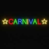 3d carnival sign