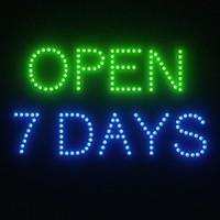 3d open sign