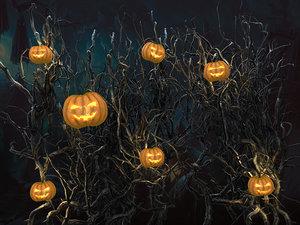 3d model halloween pumpkin wall