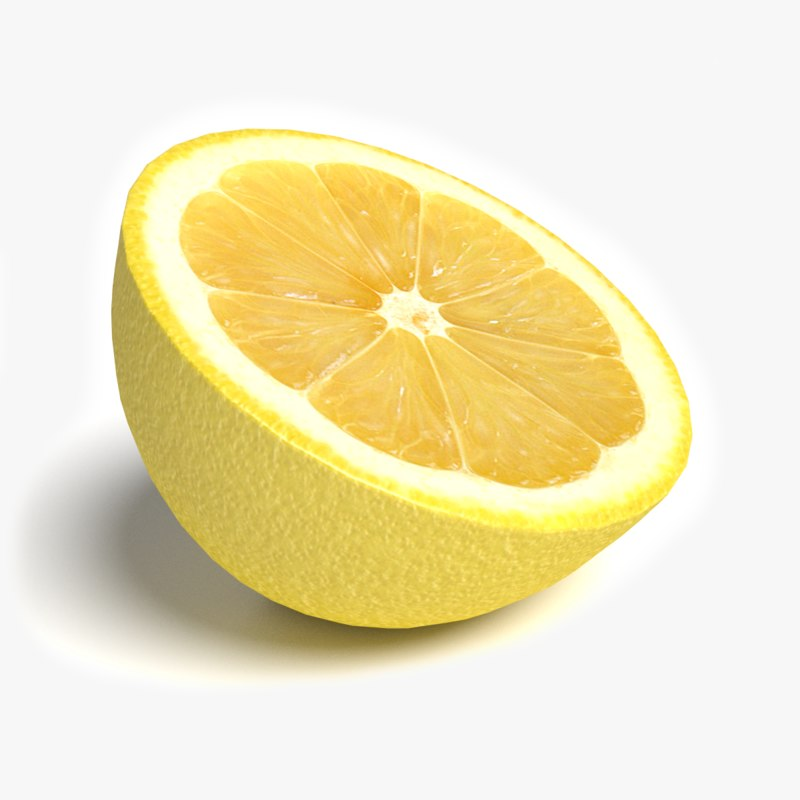 how to draw a lemon cut in half