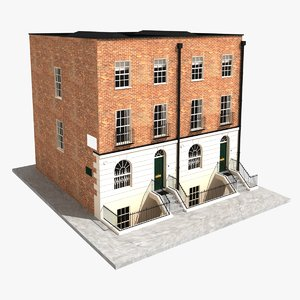 3d middle block house model