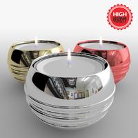 candlesticks candles 3d model