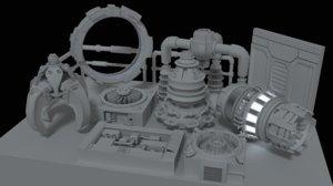 3d 3ds doodads spaceship