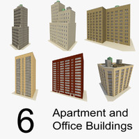 3ds 6 offices apartment buildings