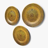 3d geometric design wall dishes