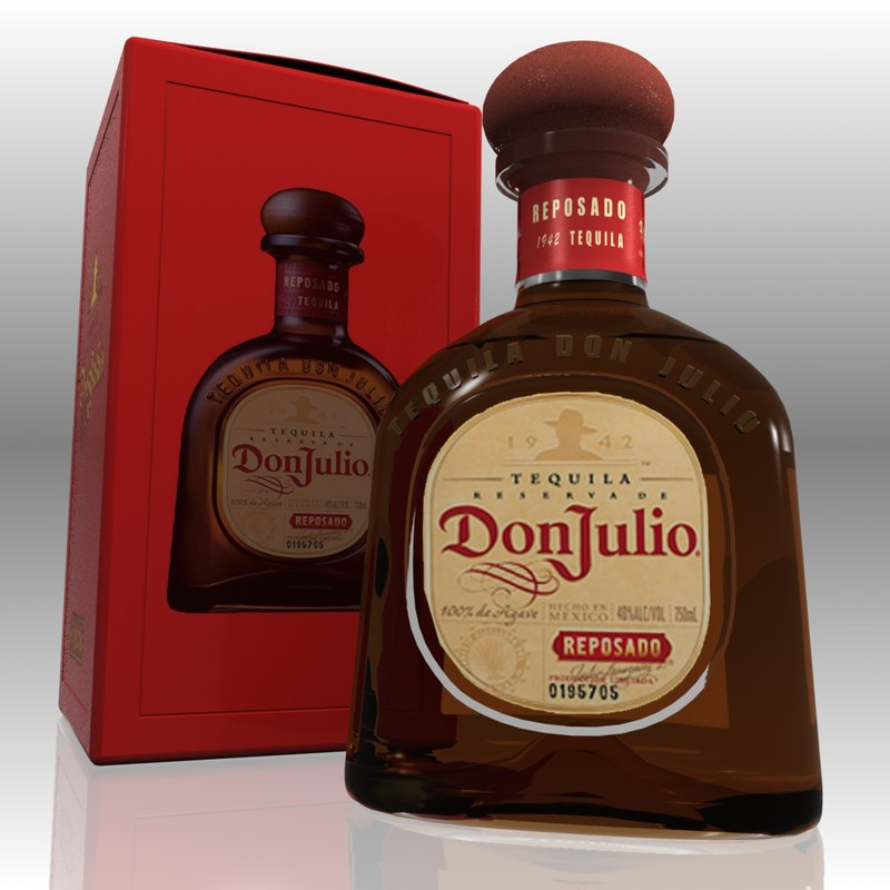 3d model don julio reposado tequila