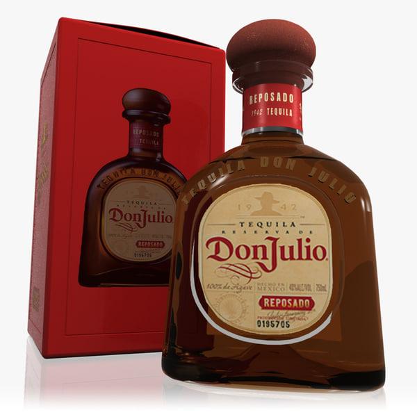 3d model don julio reposado tequila