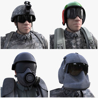 3d model military character rig