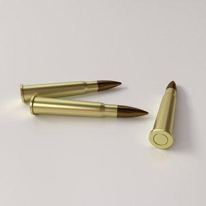 3d model ammunition 303